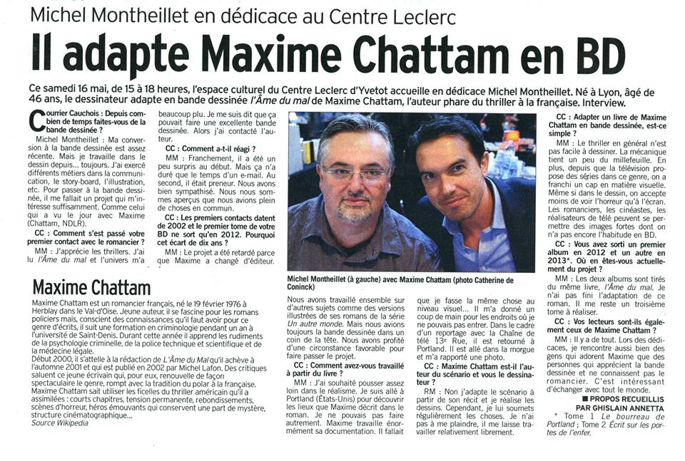 Maxime Chattam en BD